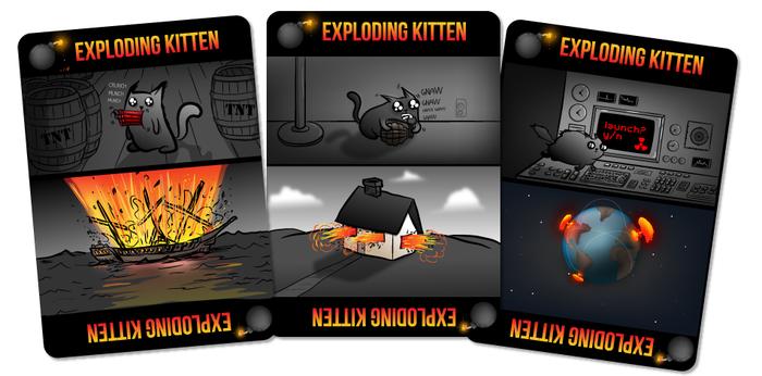 Exploding Kitten auf kickstarter.com